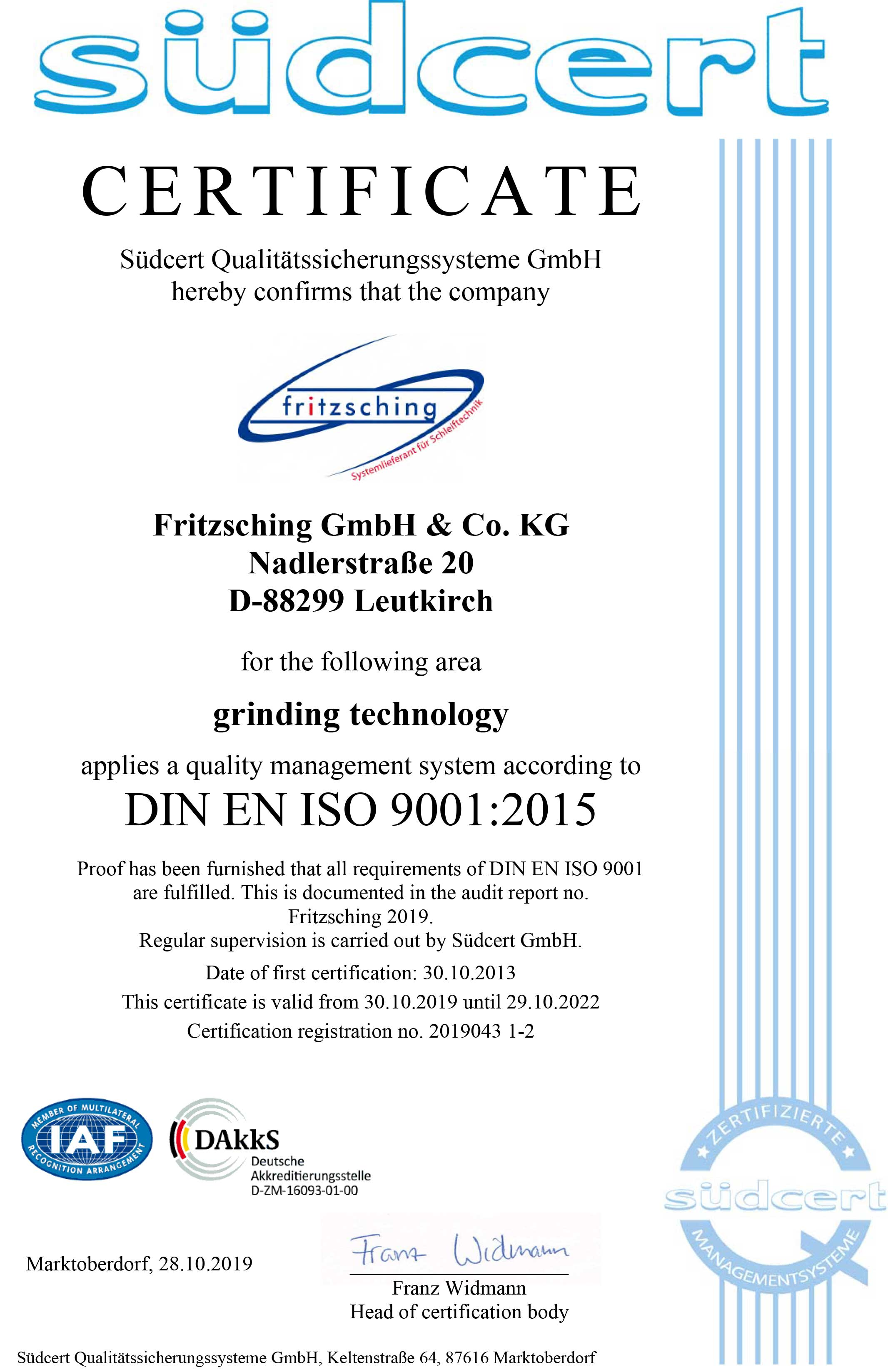 CertificateISO9001gb